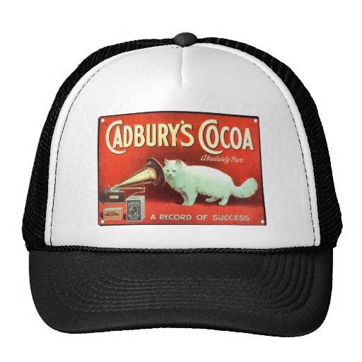 Original vintage poster of Cadbury's cocoa Mesh Hats