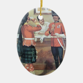 Original vintage poster of Mc ewan's ale Ceramic Oval Decoration