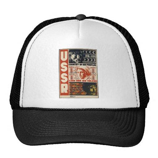 Original vintage poster of USSR Mesh Hat