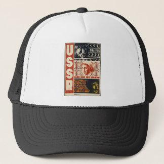 Original vintage poster of USSR Trucker Hat
