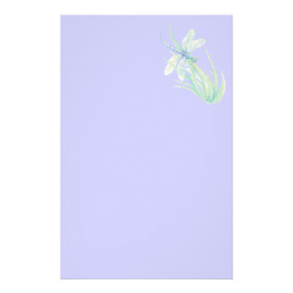 Original Watercolor Dragonfly in Blue and Green Stationery
