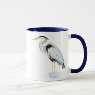 Original watercolor Great Blue Heron Bird Mug