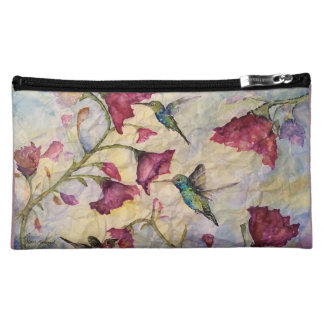 Original Watercolor Hummingbird Cosmetic Bag