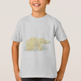 Original Watercolor Polar Bear Family Animal T-Shirt