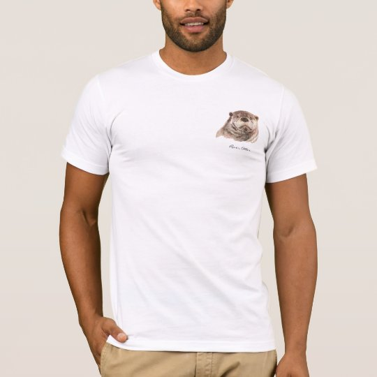 Original Watercolor River Otter Animal T-Shirt