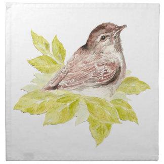 Original Watercolor Sparrow Cute Garden Bird Napkins