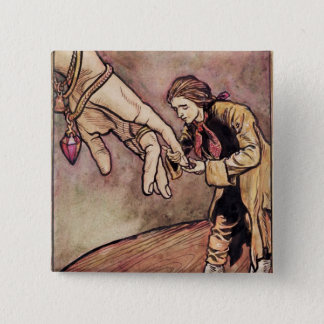 Original watercolour illustration for Gulliver's 15 Cm Square Badge