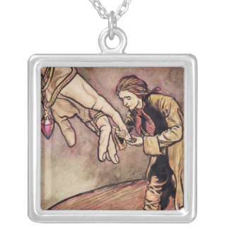Original watercolour illustration for Gulliver's Silver Plated Necklace