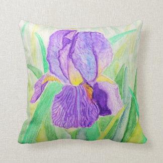 Original Watercolour Iris Pillow