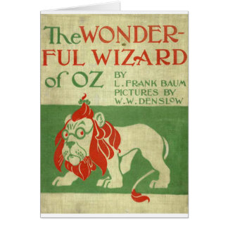 Original wizard of Oz Cover Card