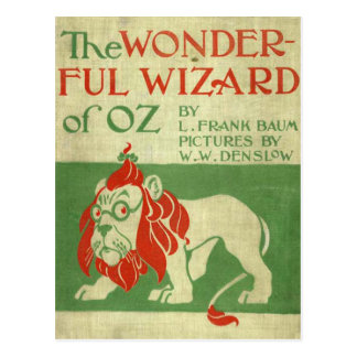 Original wizard of Oz Cover Postcard
