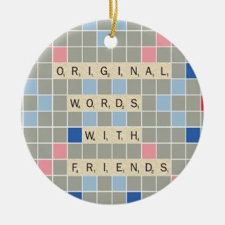 Original Words With Friends Christmas Ornament