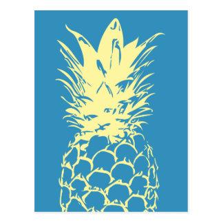 Original Yellow Pineapple blue Design Postcard