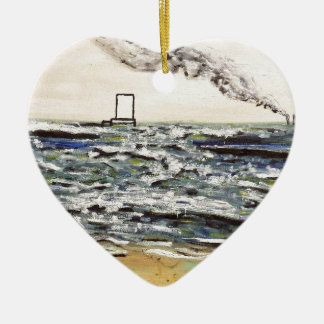 Origins and Destinations - Custom Print! Ceramic Heart Decoration