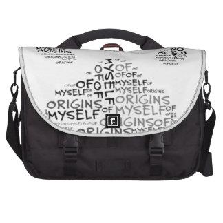 Origins of Myself Paw Print  Laptop Messenger Bag