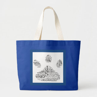 Origins of Myself Paw Print Tote Bag
