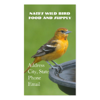 Oriole at the Bird Bath Pack Of Standard Business Cards