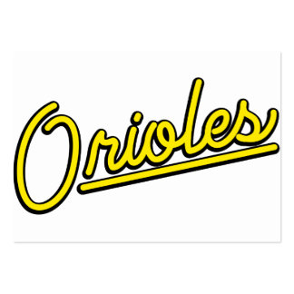 Orioles in yellow business card