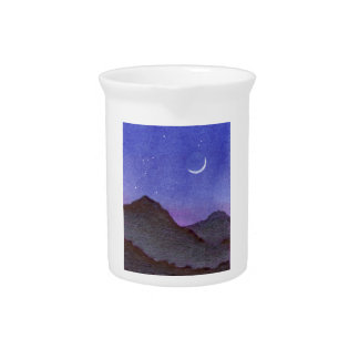 Orion & Crescent Moon Mountains Pitcher