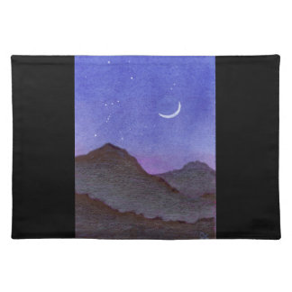 Orion & Crescent Moon Mountains Placemat