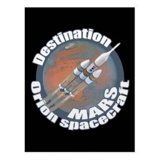 Orion destination Mars Postcard