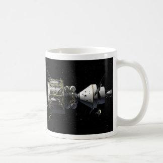 Orion Docking With Lunar Lander - Artist Rendering Basic White Mug