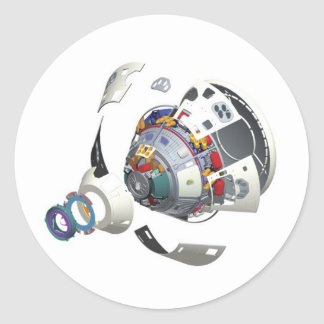 Orion Exploded View Round Sticker