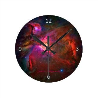 Orion Nebula and Trapezium Stars Round Clock