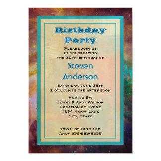 Orion Nebula Birthday Party 13 Cm X 18 Cm Invitation Card