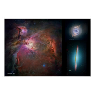 Orion Nebula, Cat's Eye Nebula, Majestic Sombrero Poster
