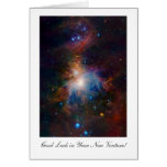 Orion Nebula - Good Luck in Your New Venture Greeting Cards