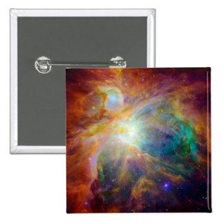 Orion Nebula Hubble Spitzer Space Buttons