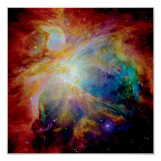 Orion Nebula Hubble Spitzer Telescope Space Photo Poster