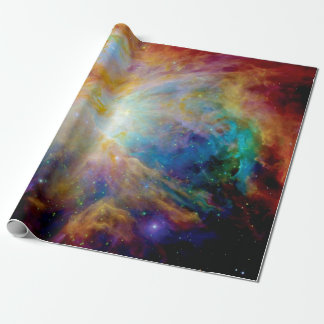 Orion Nebula Hubble Spitzer Telescope Space Photo Wrapping Paper