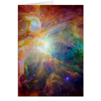 Orion Nebula (Hubble & Spitzer Telescopes) Card