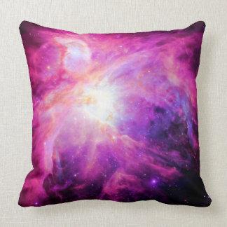 Orion Nebula Pink Purple Galaxy Pillow