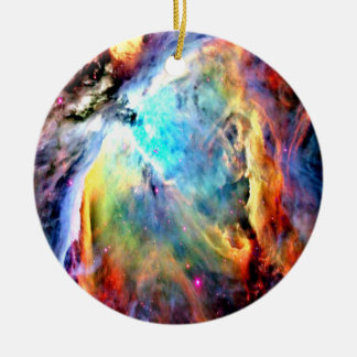 Orion Nebula Round Ceramic Decoration