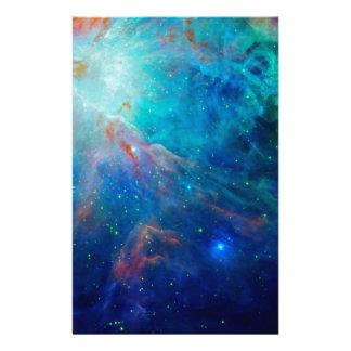 Orion Nebula shimmering blue NASA Stationery Paper