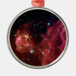 Orion Nebula Silver-Colored Round Decoration