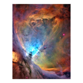 Orion Nebula Space Craft Paper - 2 Sided 21.5 Cm X 28 Cm Flyer