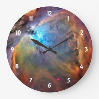 Orion Nebula Space Galaxy Large Clock