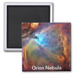 Orion Nebula Space Galaxy Square Magnet