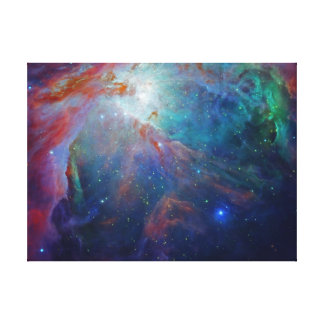 Orion space stretched canvas print