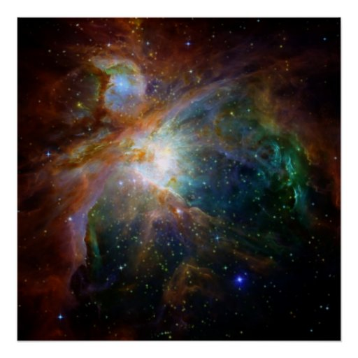 Orion space poster
