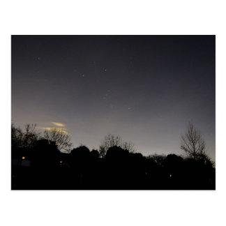 Orion  star cluster postcard