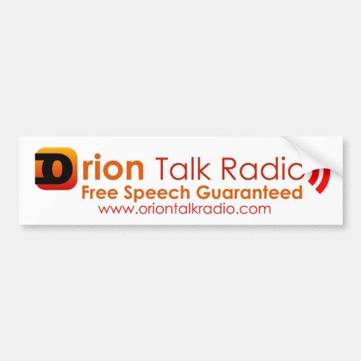 Orion Talk Radio Bumper Sticker