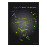 Orion the Great Hunter Constellation Poster