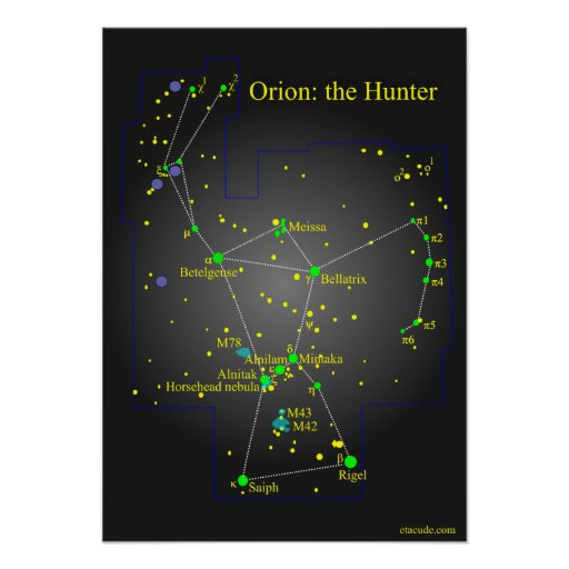 Orion the Great Hunter Constellation Print