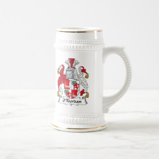 O'Riordan Family Crest Beer Steins