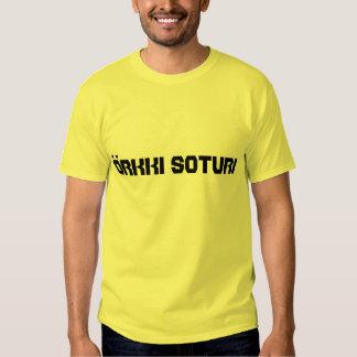 örkki  soturi - orc warrior in Finnish T Shirt